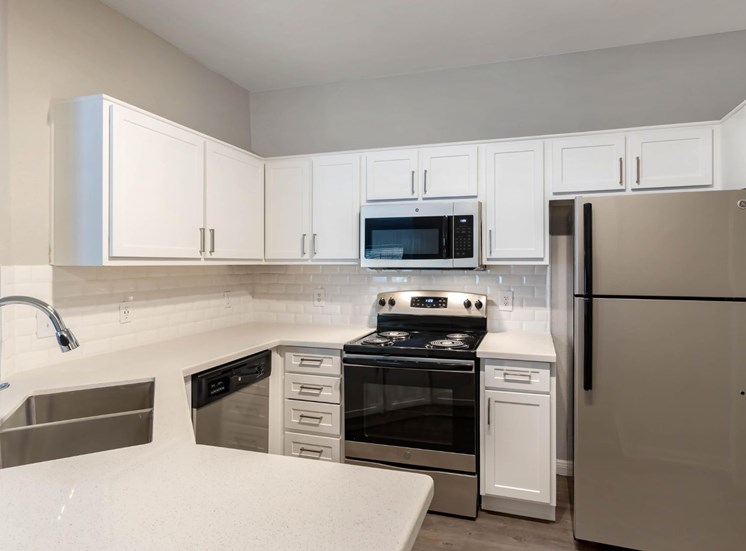 Fully Equipped Kitchen with Brushed Nickel Appliances