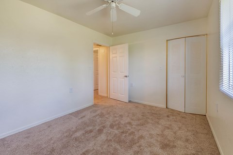 Bedroom with Wall-to-Wall Carpet