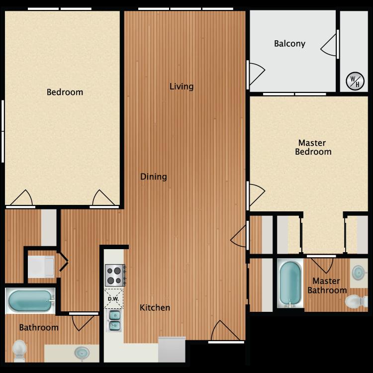 2X2 B Floor Plan 9