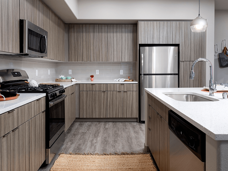 Contemporary Kitchen Cabinetry at Las Positas Apartments, Camarillo, CA, 93010