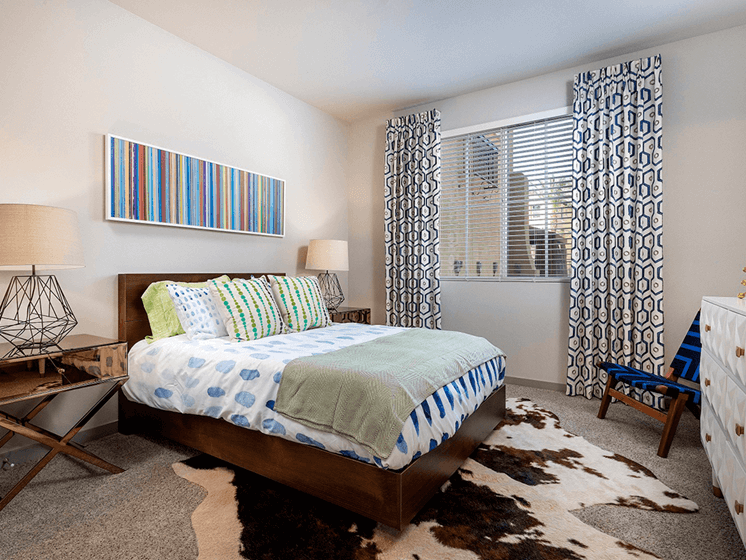 Comfortable Bedroom With Window at Las Positas Apartments, Camarillo