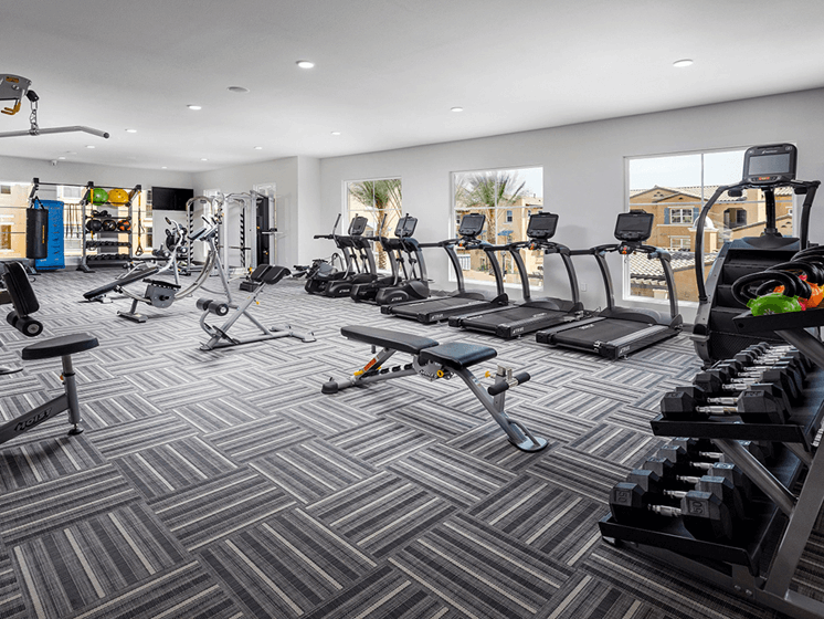 State-of-the-Art Fitness Center at Las Positas Apartments, Camarillo, California