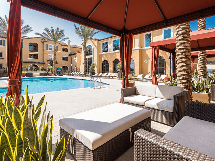Picturesque Pool And Cabana Setting at Las Positas Apartments, California, 93010