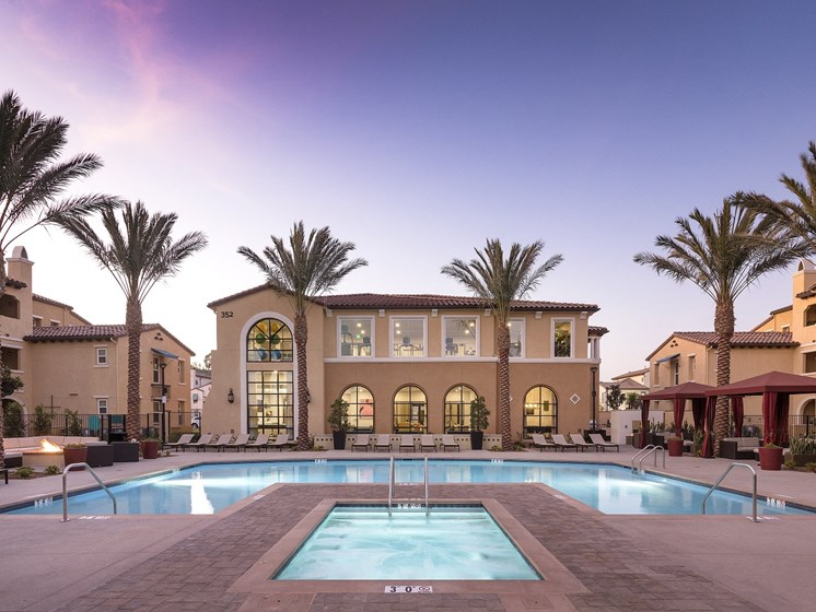 Sunset Pool Views from the Comfort of Your Home at Las Positas Apartments in Camarillo, CA