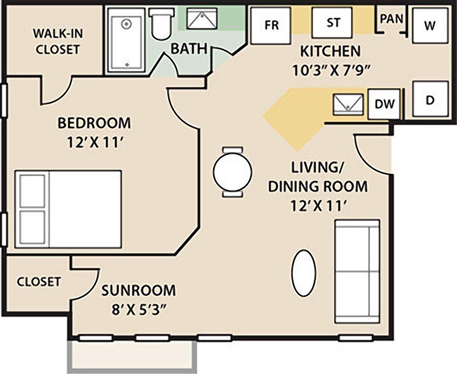 Timberlake 1 Bedroom 1 Bath