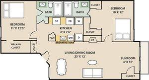 Timberlake 2 Bedroom 2 Bath