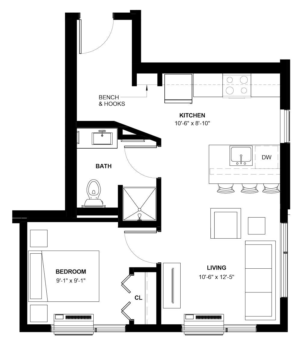 1 Bedroom Apartments Minneapolis: Minneapolis, MN