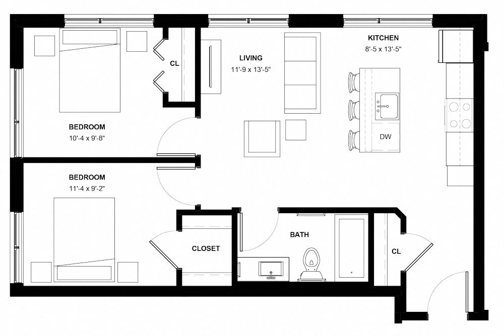 Floor Plans The Central Minneapolis Mn Studio 1 2 3 Bedrooms