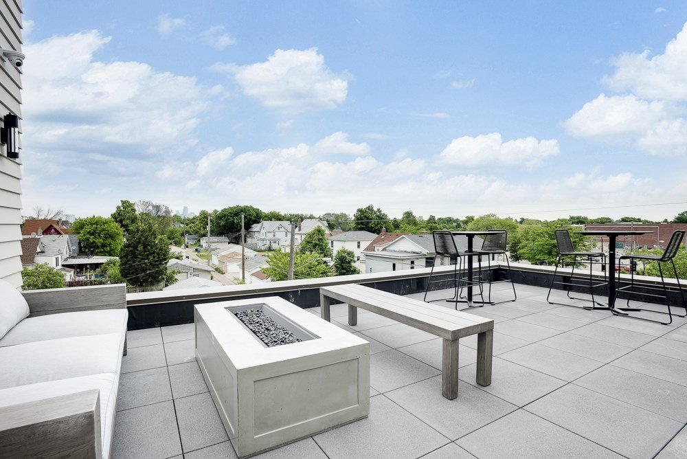 Rooftop lounge at The Central apartments in central district near downtown Minneapolis MN