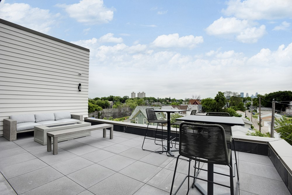 Rooftop patio and outdoor firepit