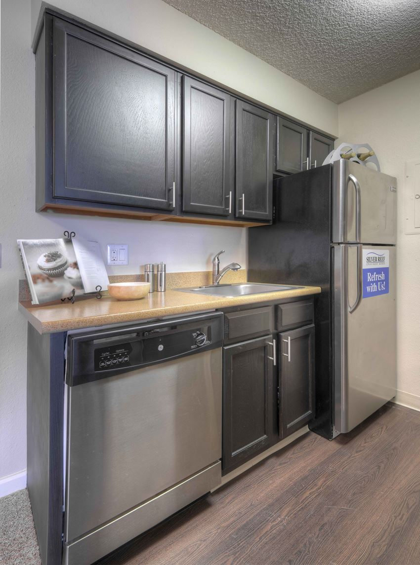 Kitchen at Silver Reef Apartments in Lakewood, CO