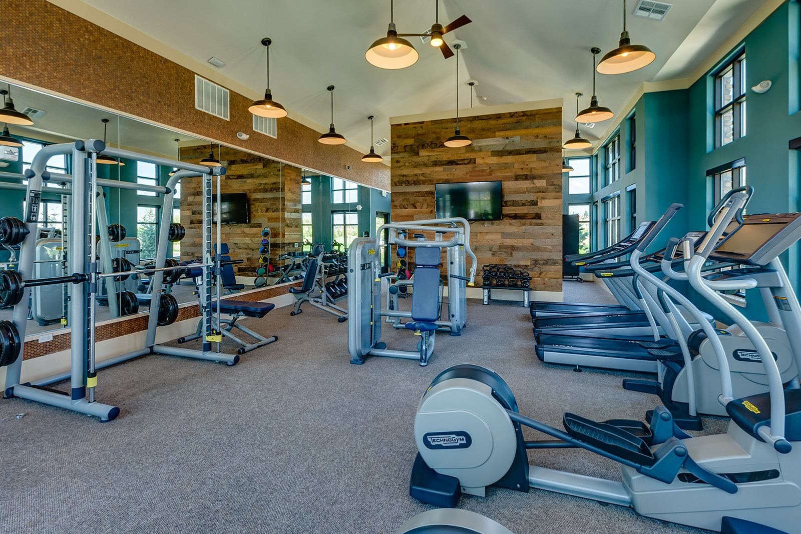 Fitness center at Windsor at Pinehurst, Lakewood, CO