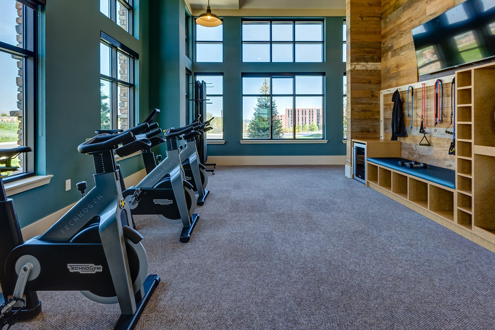 Spin bikes at Windsor at Pinehurst, CO, 80235