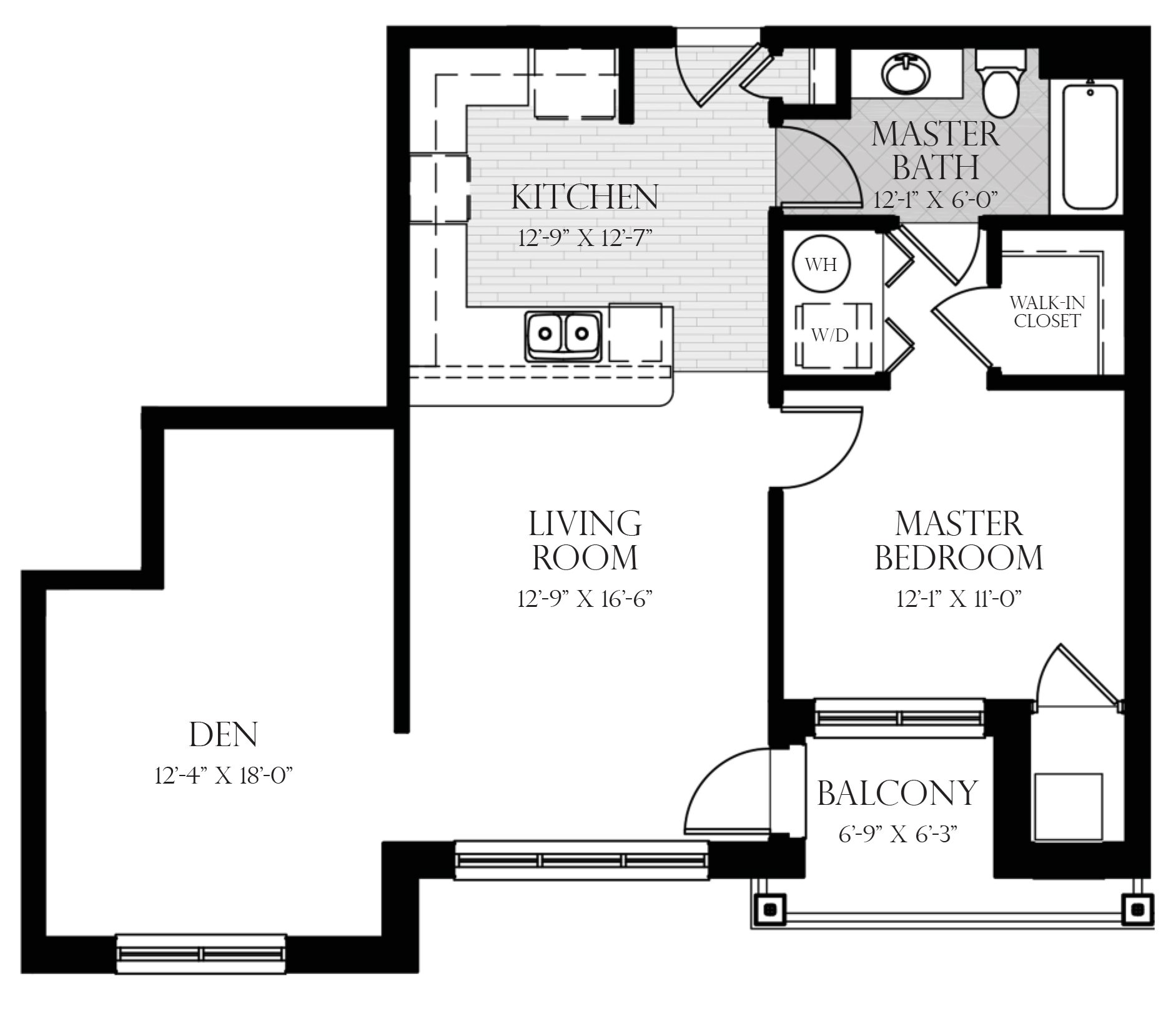 Frontier with Den Floor Plan 6