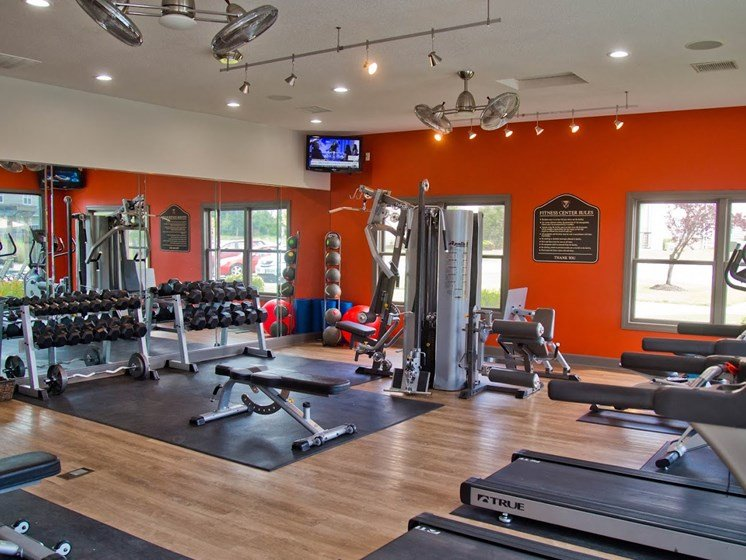 Modern Fitness Center at The Manor Homes of Eagle Glen, Raymore, MO