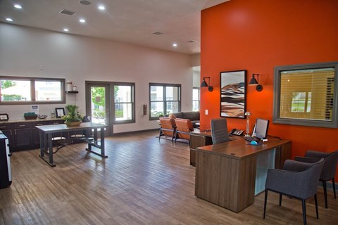 Relaxing Clubhouse at The Manor Homes of Eagle Glen, Raymore, 64083