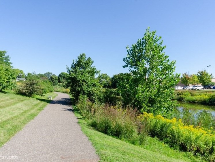 Beautiful walking and jogging trail