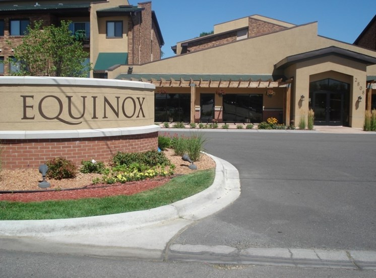 Front entry at Equinox Apartments