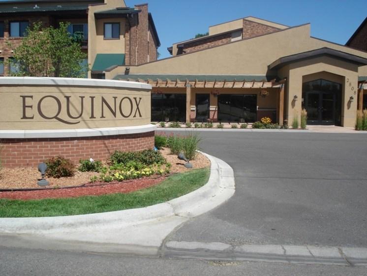 Front entry at Equinox Apartments