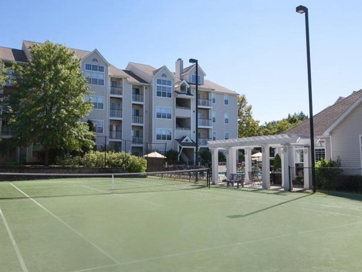 Outdoor Tennis Court at Town Walk at Hamden Hills, Hamden, CT, 06518