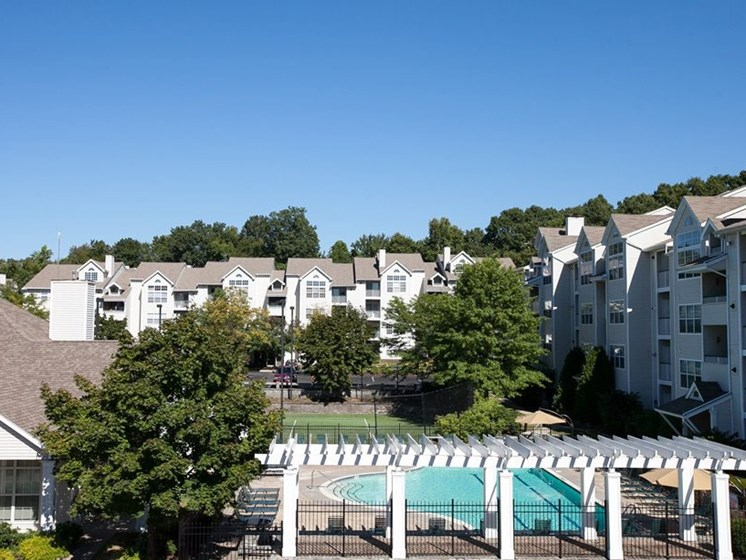 View of property buildings at Town Walk at Hamden Hills, Connecticut, 06518