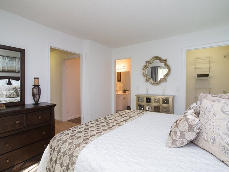 Spacious Bedrooms with Walk-In Closet and Bathroom at Town Walk at Hamden Hills, Hamden, 06518