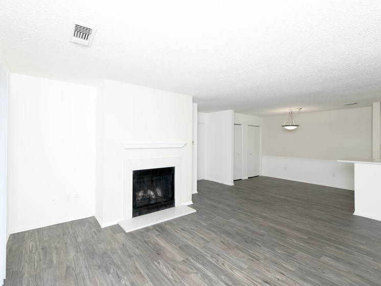 Wood-Burning Fireplaces in Living Rooms at Town Walk at Hamden Hills, Hamden, CT, 06518