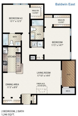 Baldwin East Floor Plan 12