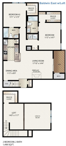 Munson East  W/ Loft Floor Plan 13