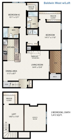 Baldwin West W/ Loft Floor Plan 14
