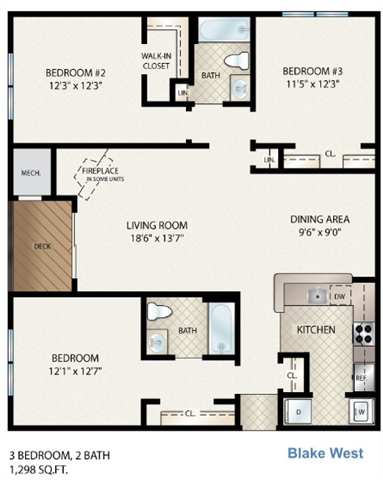 Blake West Floor Plan 15
