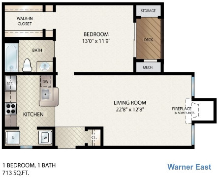 Warner East Floor Plan 1