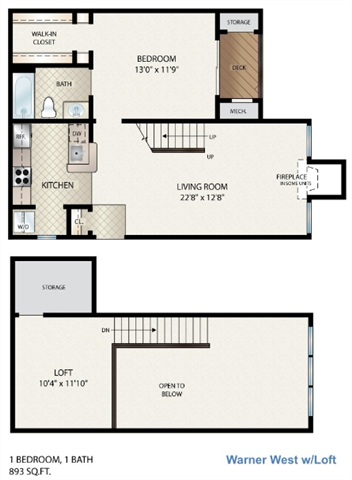 Warner West  W/ Loft Floor Plan 5