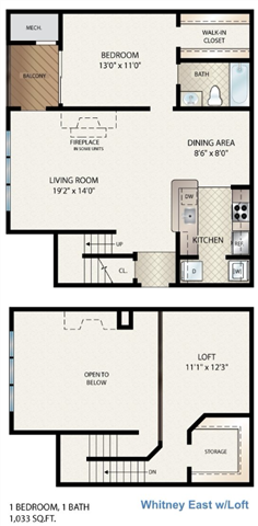 Whitney East  W/ Loft Floor Plan 8