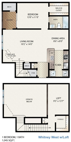 Whitney West W/ Loft Floor Plan 7
