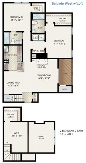 Baldwin West W/ Loft Floor Plan 16