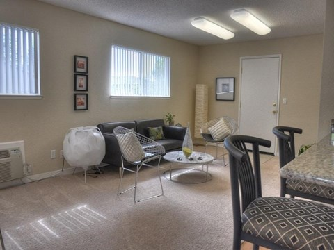 Furnished living room model