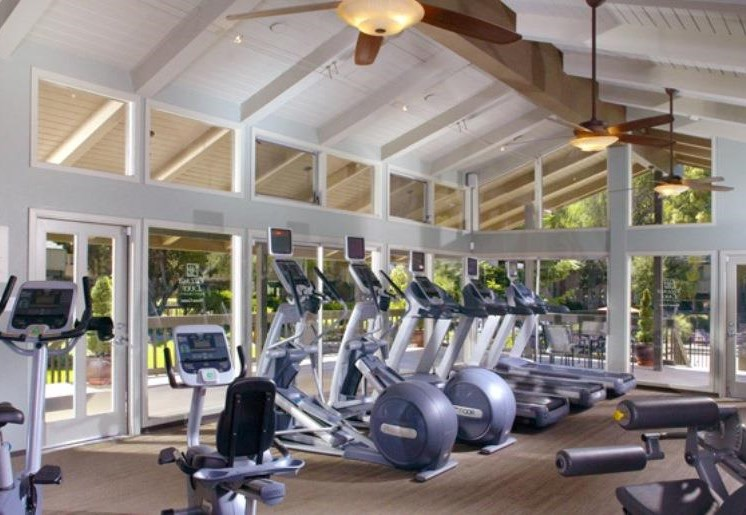 Fitness center with treadmills and eliliptical