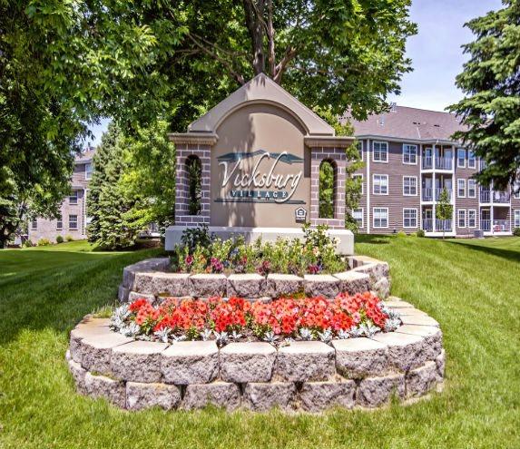Entrance with Architectural Details at Vicksburg Village, Minnesota, 55446