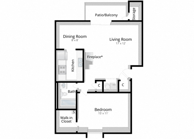 Superb One Bedroom Apartment Bloomington Indiana