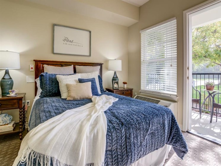 Beautiful Bright Bedroom With Wide Windows at Westmont of Fresno, Fresno, California