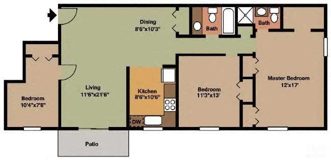 The Fulton Floor Plan 6