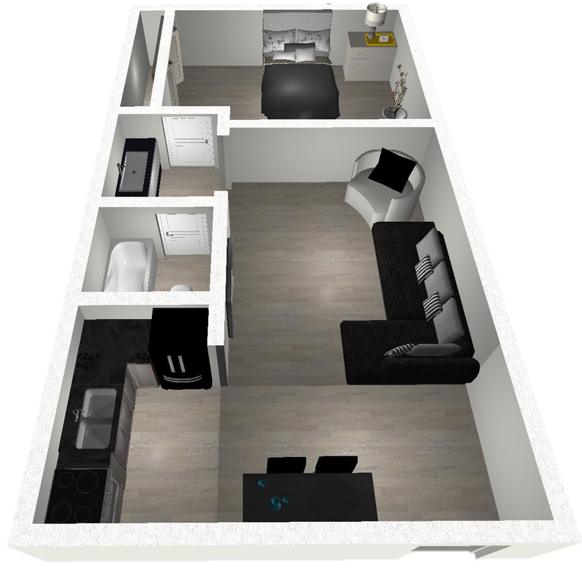 1 Bedroom East