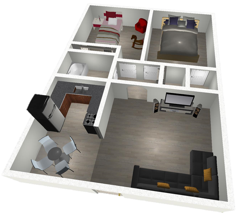 2 Bedroom East