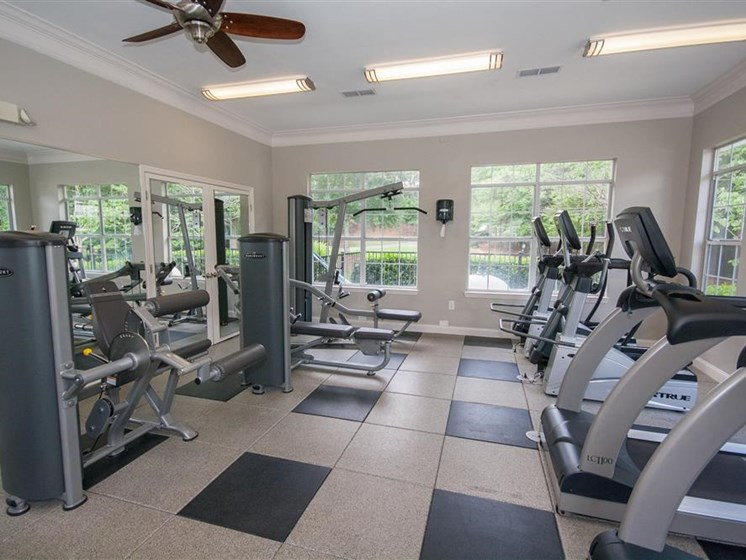 Fitness Center With Updated Equipment at Lullwater at Calumet, Newnan, GA