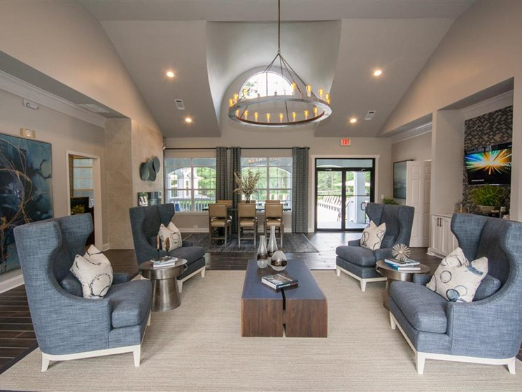 Large Clubhouse With Ample Sitting And Television at Lullwater at Calumet, 500 Lullwater Circle, GA