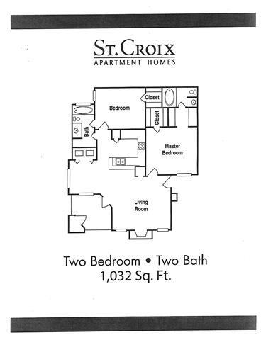 2 Bedroom C Floor Plan 4