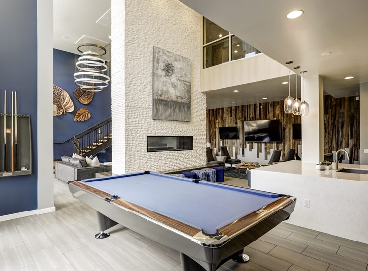 Apartments in Lone Tree - Aspect Lone Tree Club Room with Billiards Table