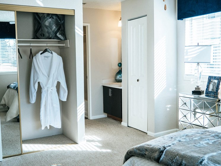 Westward Heights Closet and Bathroom Entrance