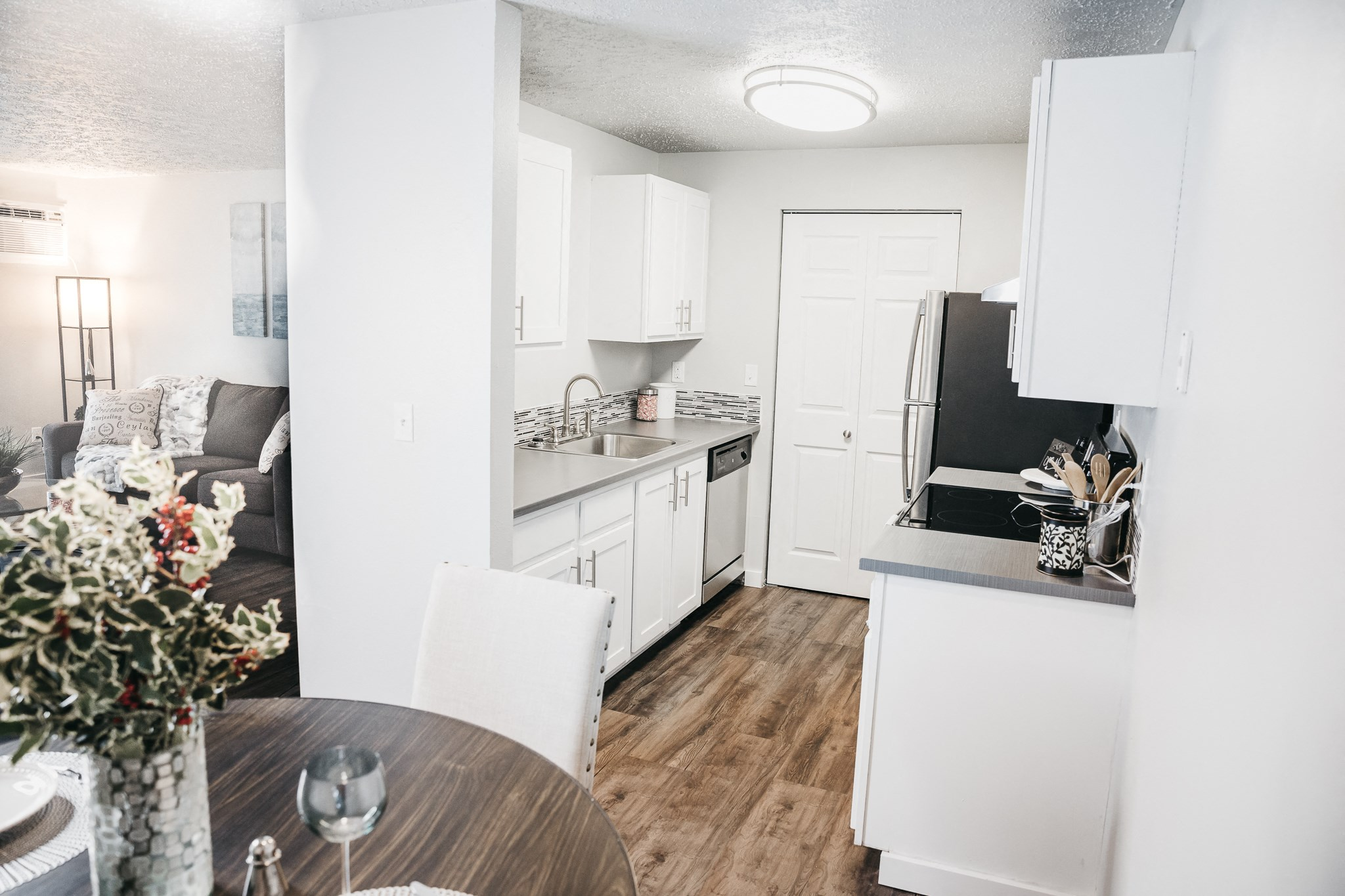 GoGo Heights Apartments Kitchen Area